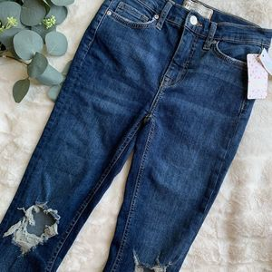 NWT Free People Busted Skinny Jean-Midnigh…